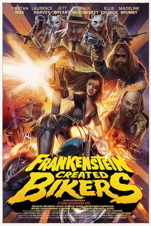 Frankenstein Created Bikers Poster