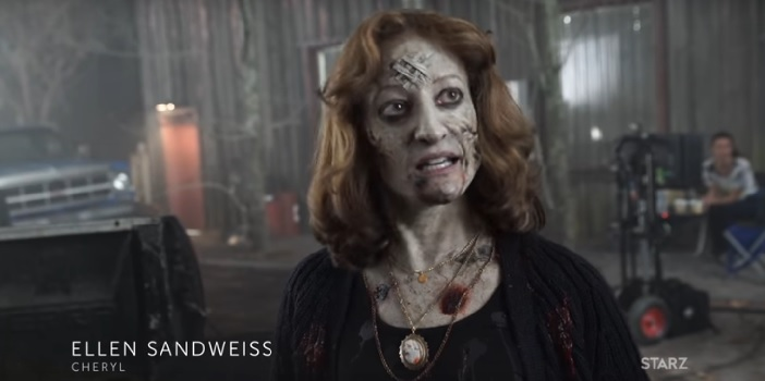 """Ash vs Evil Dead"" Behind the Scenes Look at Ellen Sandweiss as Cheryl"