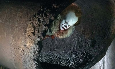 New IT Adaptation Pennywise Photo Shows Him Lurking in the Sewers