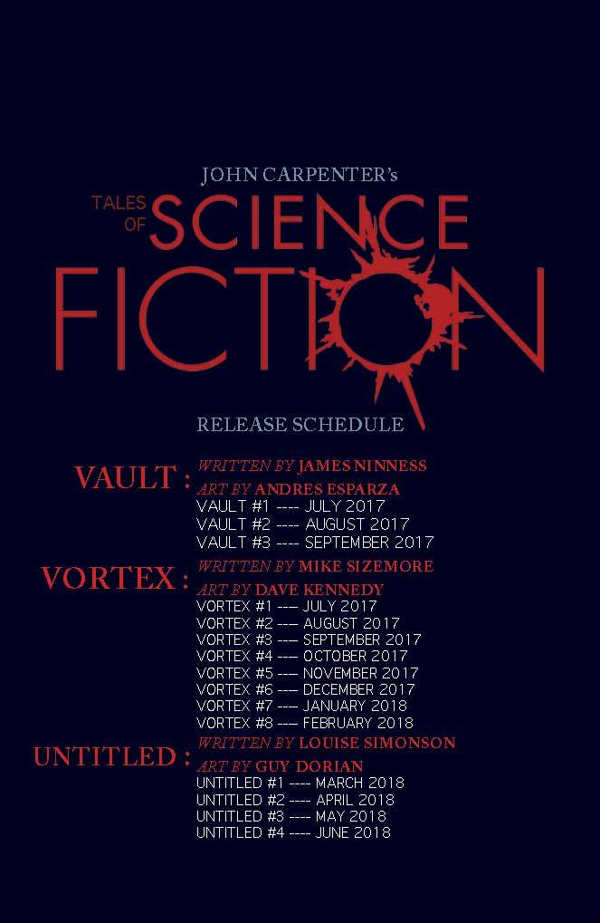 John Carpenter's Tales of Science Fiction Dates
