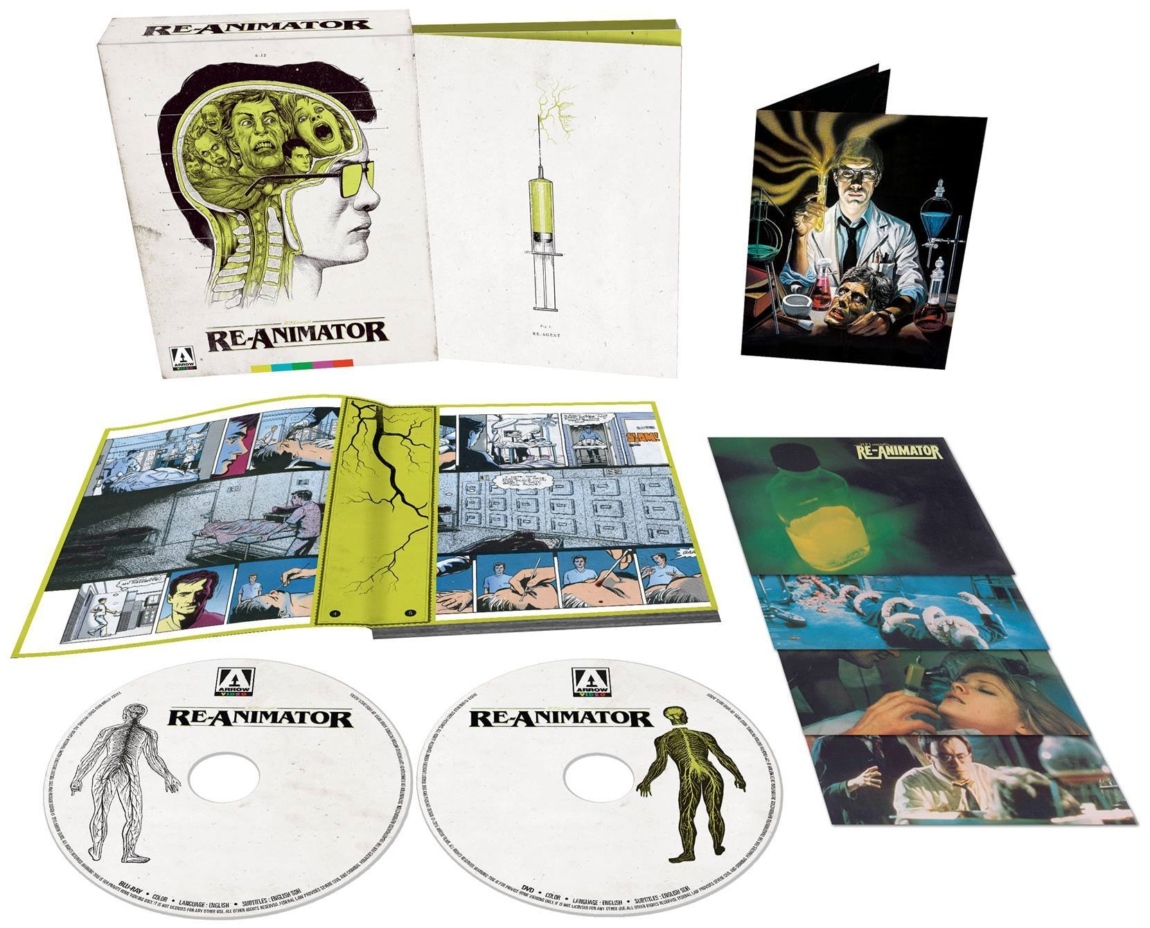 Re-Animator Arrow Video USA Blu-Ray Set
