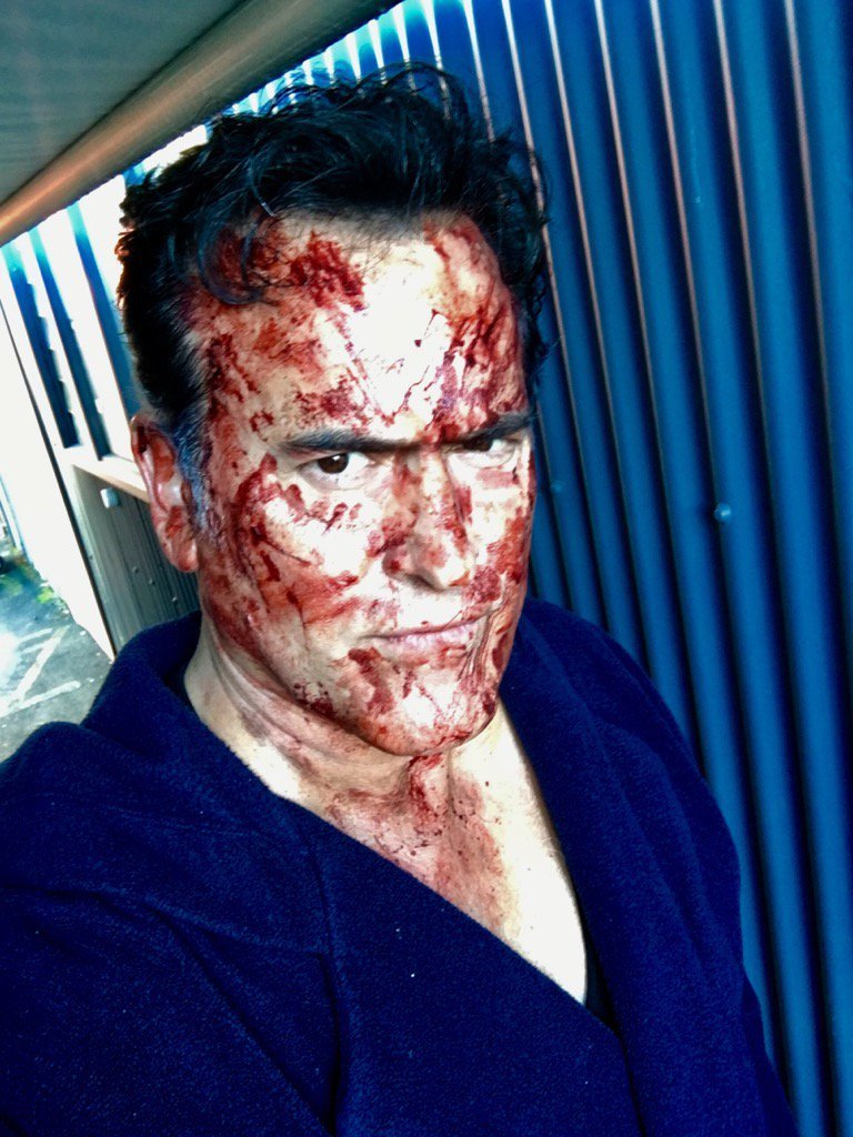 Bruce Campbell Covered in Blood