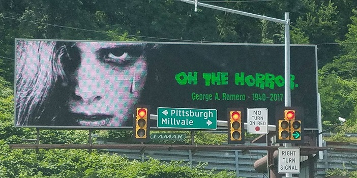 Epic George A. Romero Billboard Tribute Spotted in Pittsburgh