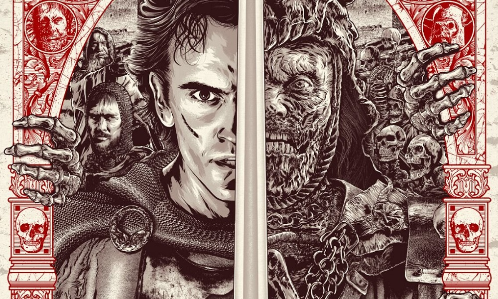 Army of Darkness Screen Print Coming from Grey Matter Art by Anthony Petrie