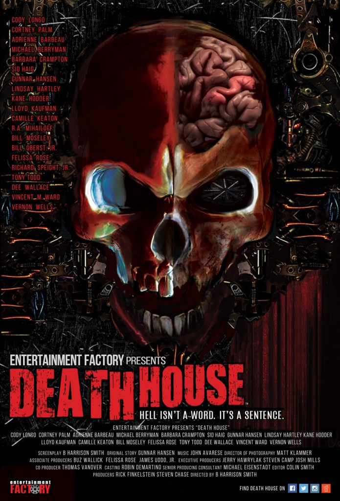 Death House Skull Poster