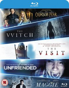 The Witch-Crimson Peak-Maggie-The Visit-Unfriended UK Blu-Ray