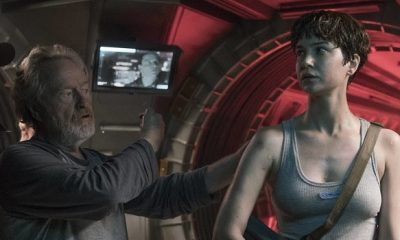Ridley Scott Directs Katherine Waterston in This 'Alien: Covenant' Photo