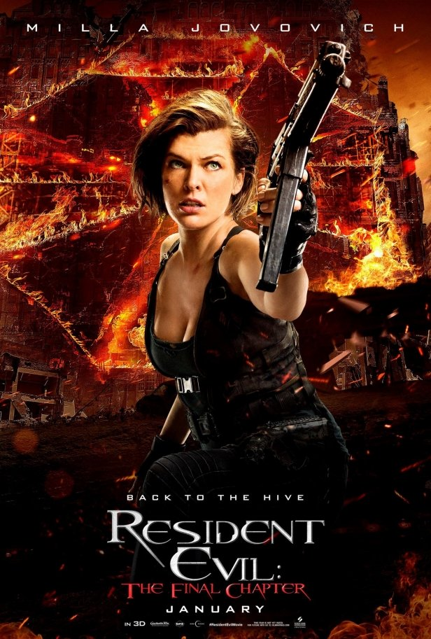 Milla Jovovich Resident Evil: The Final Chapter Poster
