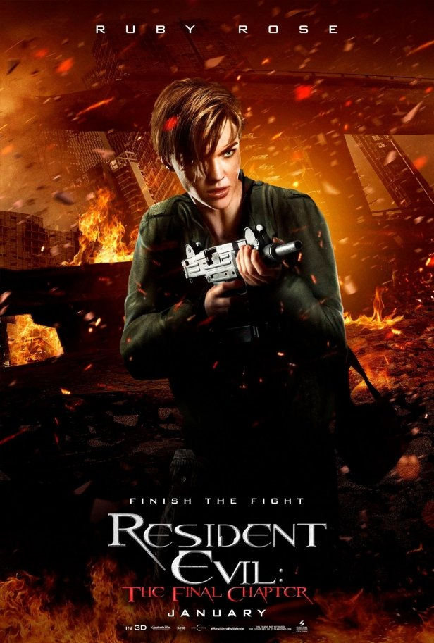 Ruby Rose Resident Evil: The Final Chapter Poster