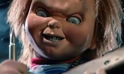 Cult of Chucky Film Reveals Chucky Doll Behind the Scenes Photo