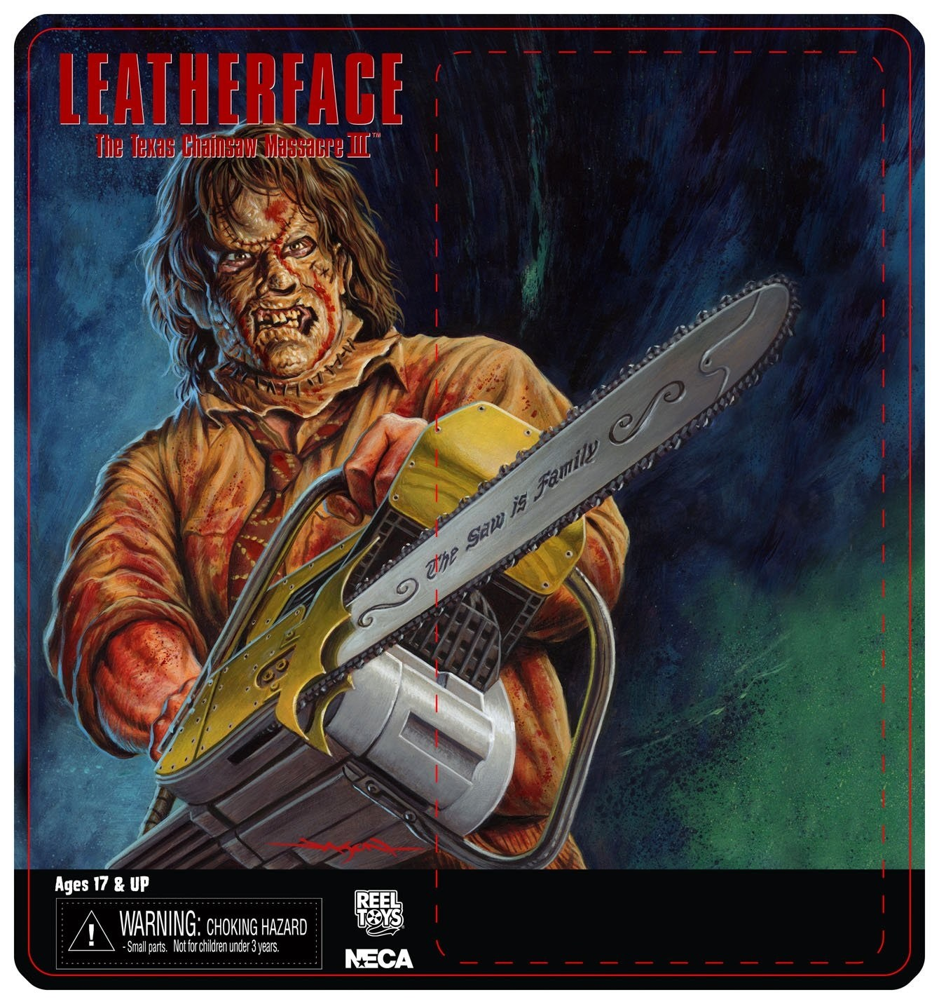 Texas Chainsaw 3 Leatherface Neca Art