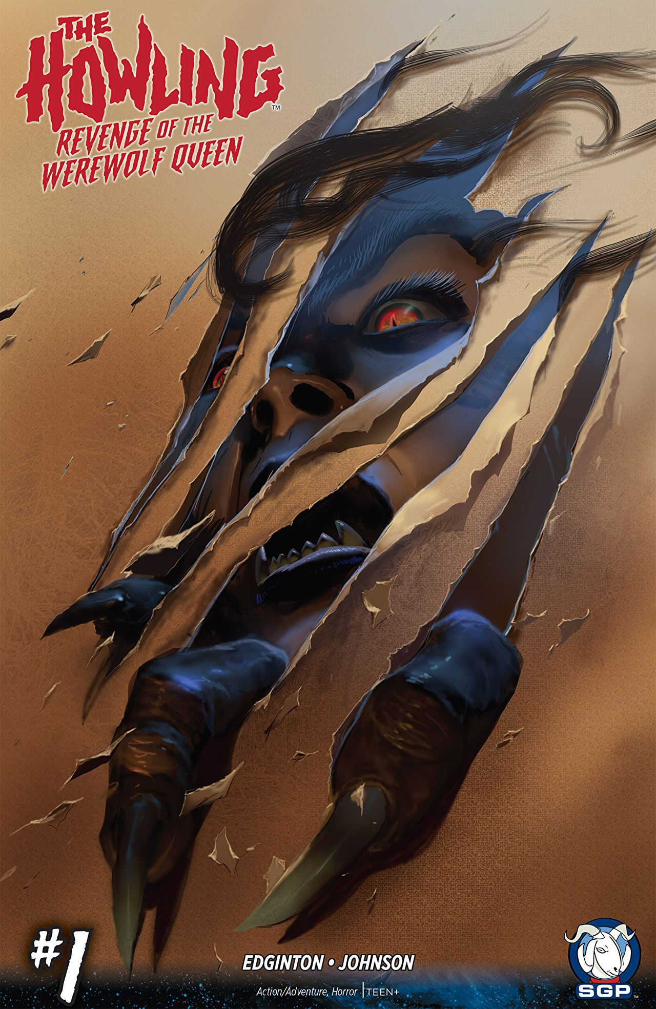 The Howling Revenge of the Werewolf Queen Issue 1 Comic Cover