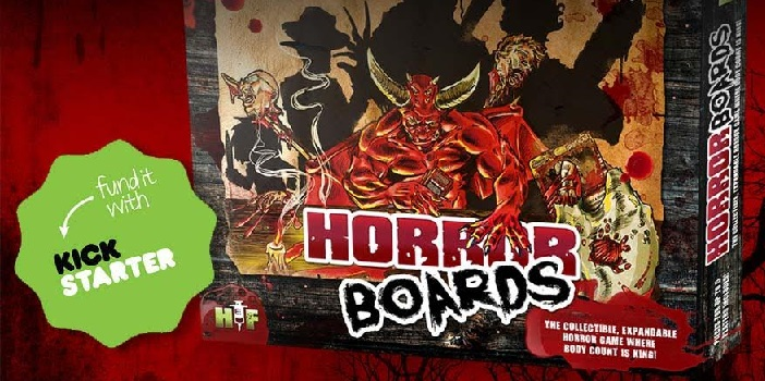 Check Out 'Horror Boards' Expandable Horror-Themed Tabletop Game