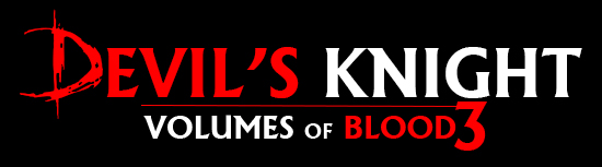 Volumes of Blood 3 Devil's Knight Title
