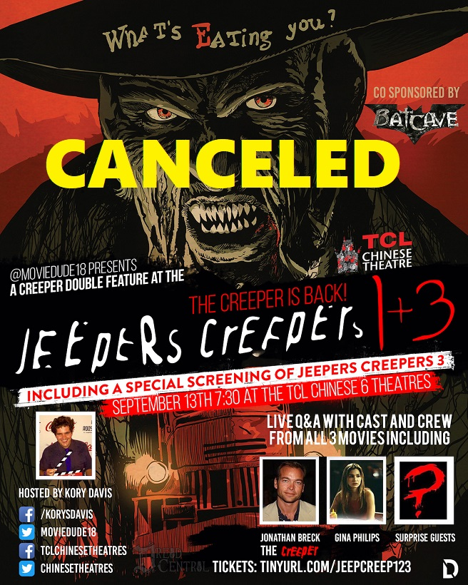 Jeepers Creepers 3 Canceled Poster