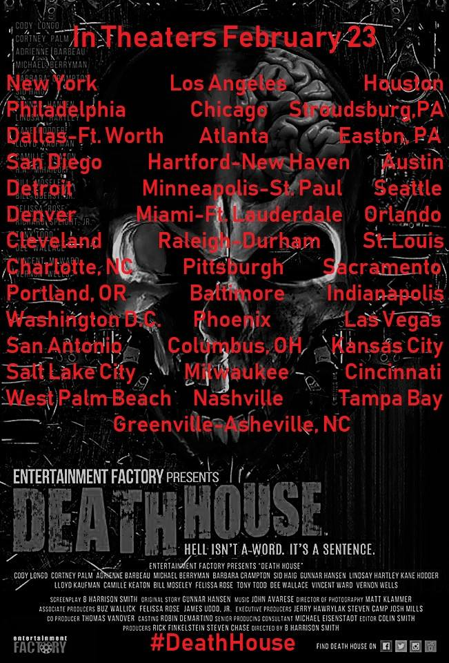Death House Screening Locations