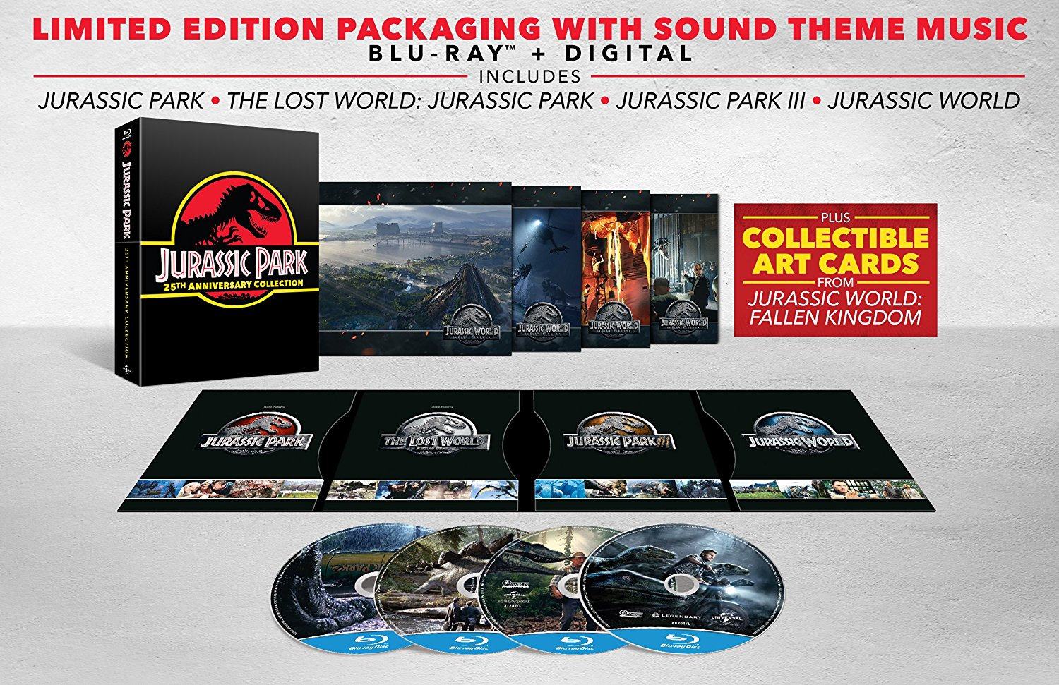 Jurassic Park 25th Anniversary Limited Collection UK Blu-Ray