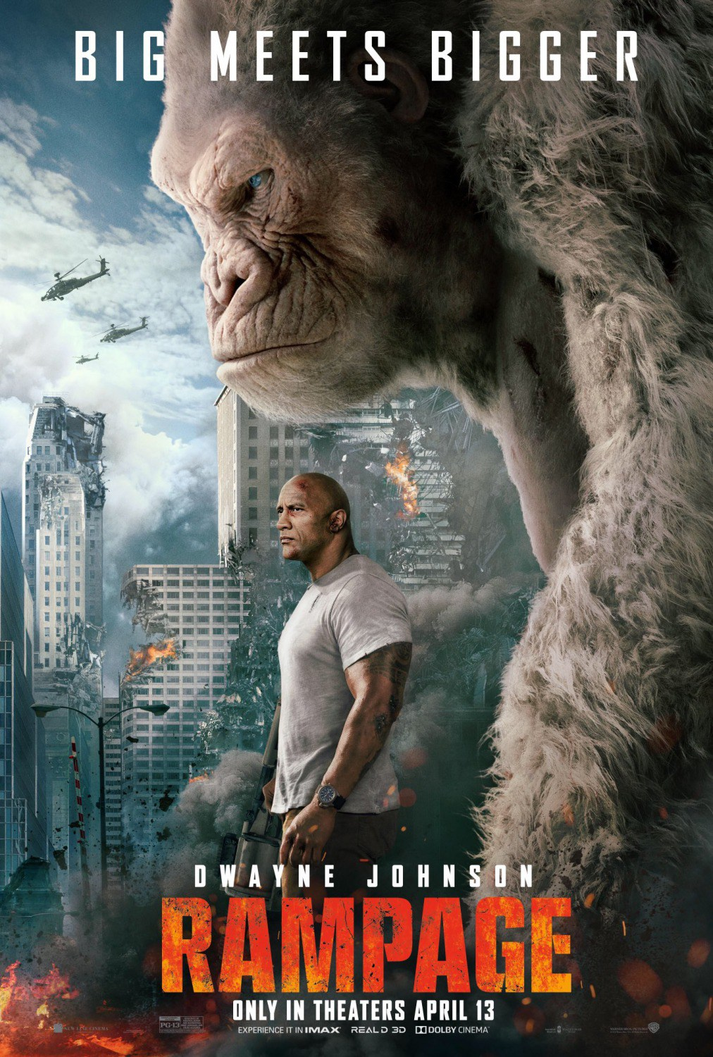 Rampage Big Meets Bigger Poster