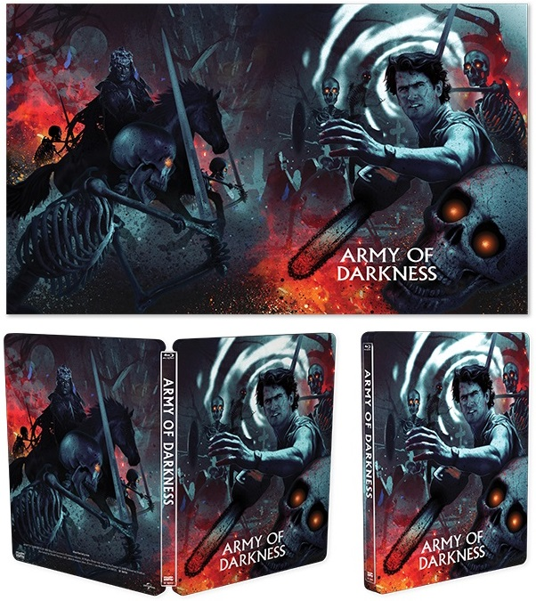 Army of Darkness Steelbook USA Blu-Ray Cover Display