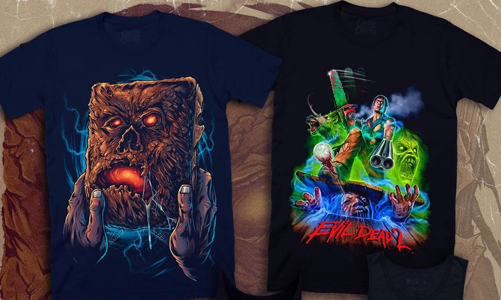 "Groovy New ""Hero Ash"" and Necronomicon Shirts Designed by Devon Whitehead"