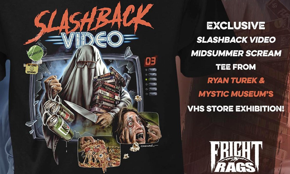 Fright-Rags Unleashes Slashback Video: Midsummer Scream VHS T-Shirt from Ryan Turek