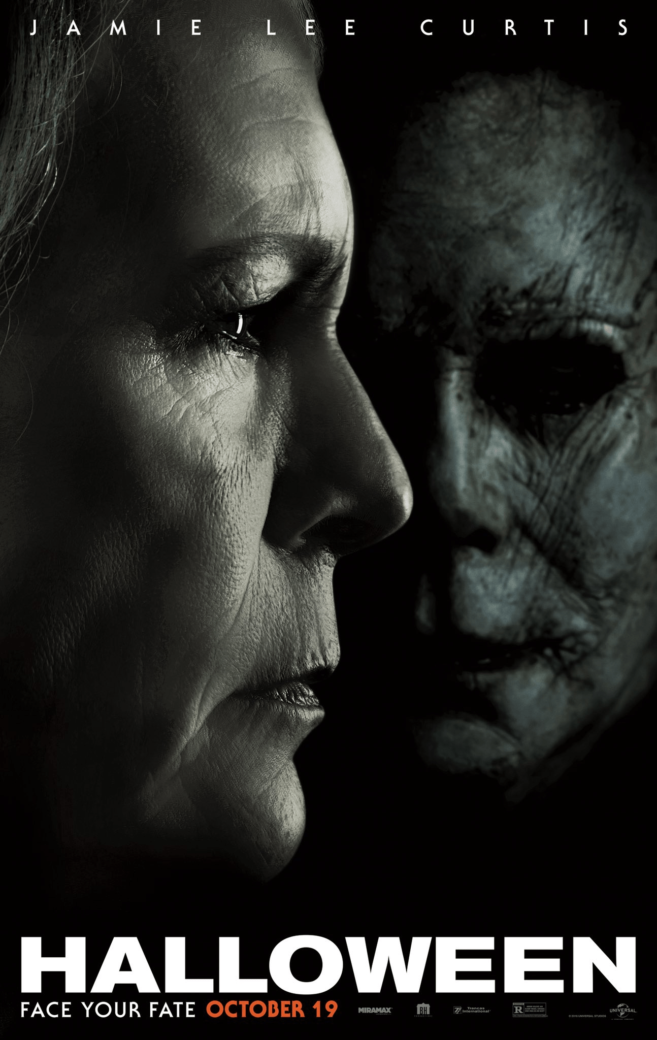 Laurie Strode Michael Myers 2018 Halloween Poster