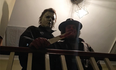 [Photo] Nick Castle as Michael Myers Behind-the-Scenes of 'Halloween'