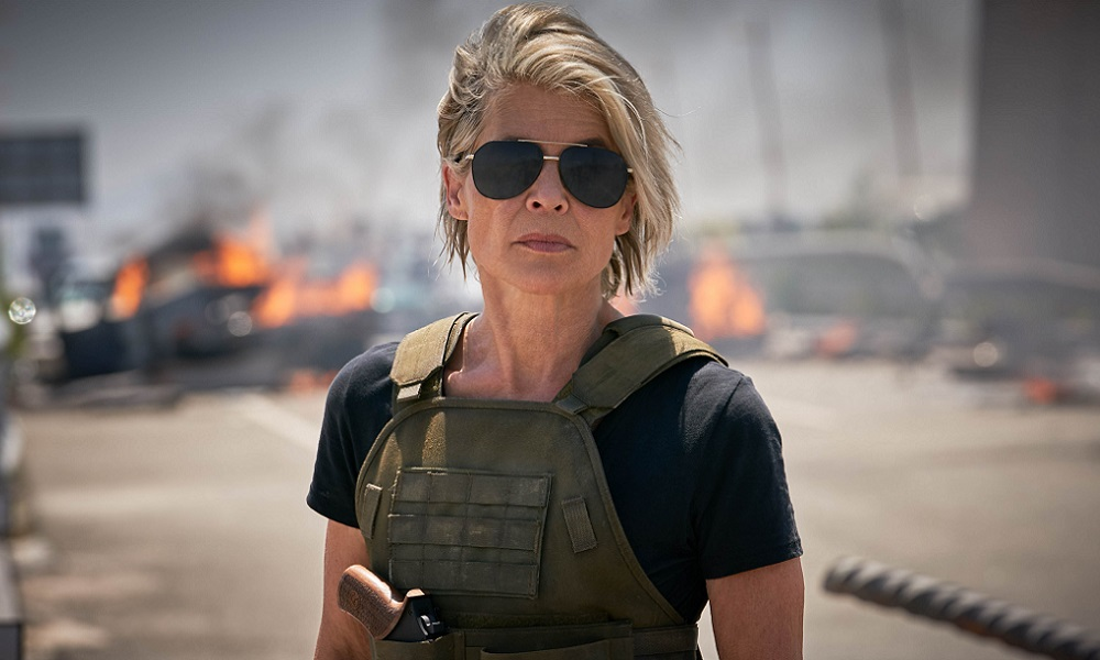 Tim Miller Shares New 'Terminator: Dark Fate' Image of Sarah Connor With Rocket Launcher