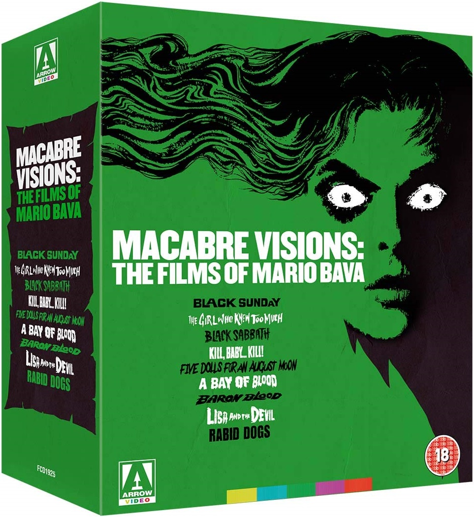 Macabre Visions The Films of Mario Bava UK Blu-Ray Cover