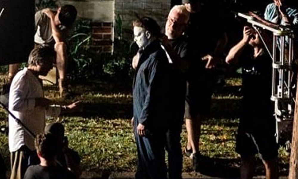 Old School Michael Myers Stalks the Set of 'Halloween Kills' in Wilmington, North Carolina