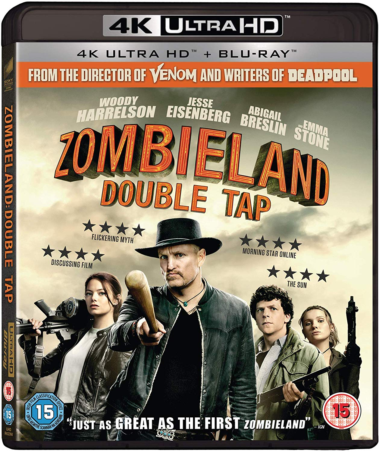Zombieland Double Tap UK 4K Blu-Ray