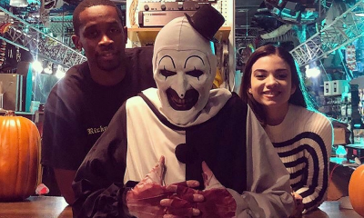 Art the Clown Drowns the Set in Blood in New Behind-the-Scenes Images from 'Terrifier 2'