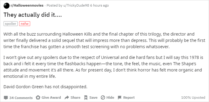 Reddit Halloween Kills