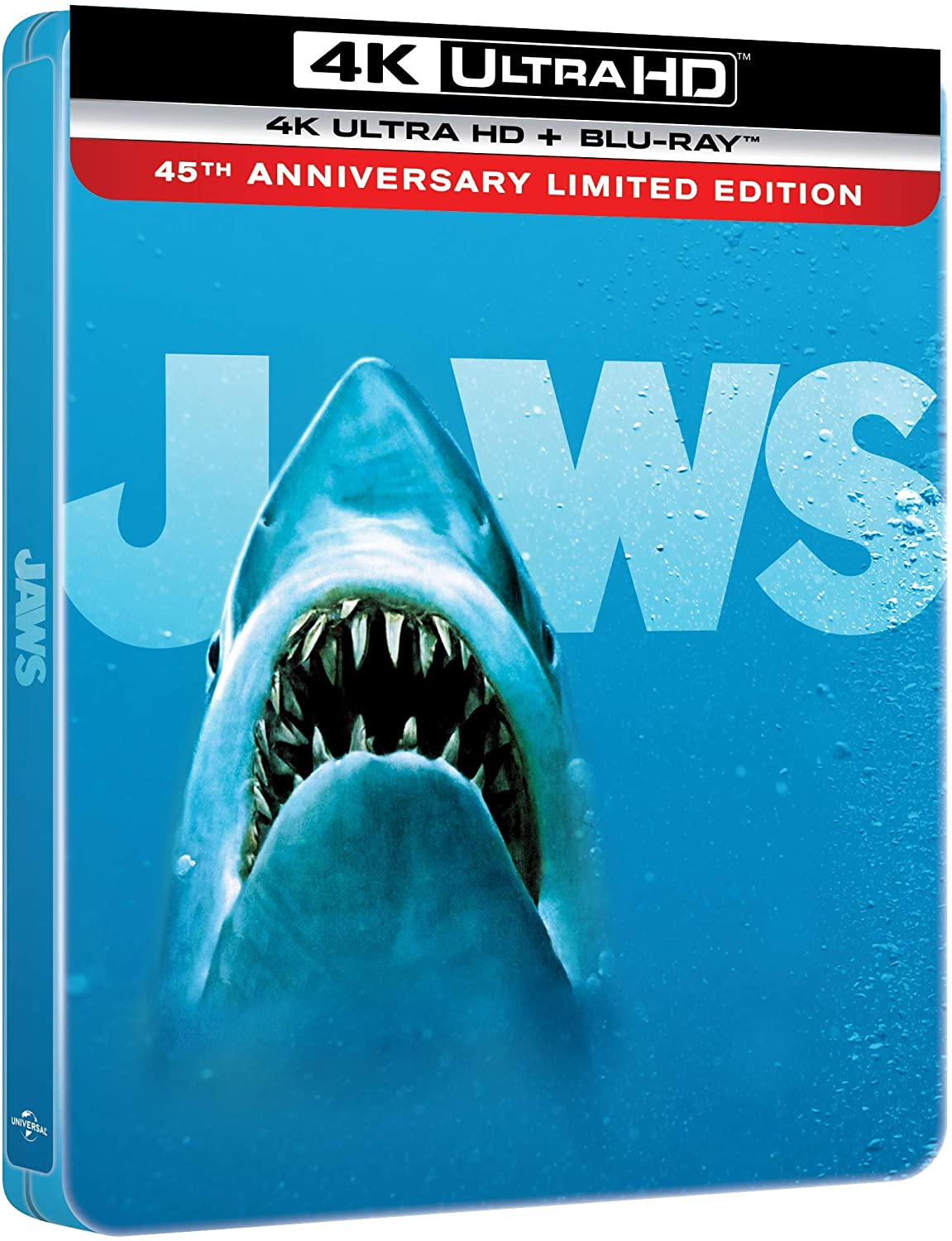 Jaws Limited Edition Steelbook 4K Ultra HD Blu-Ray UK Cover Artwork