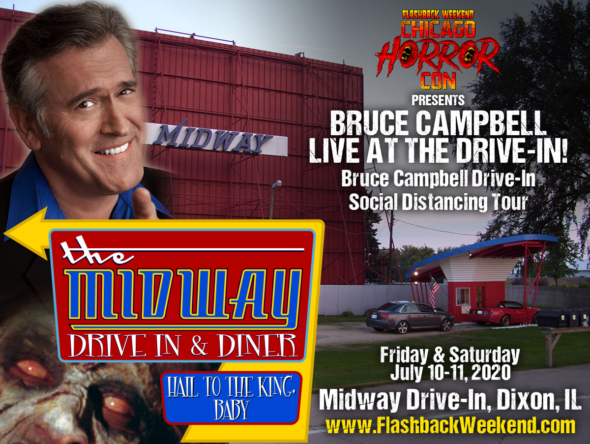 Bruce Campbell at Midway Drive-In
