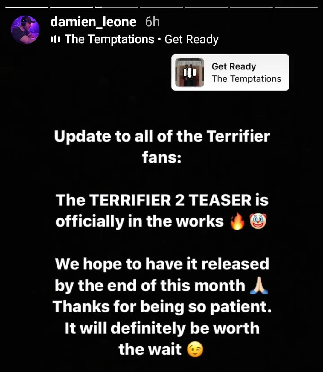 Terrifier 2 Announcement