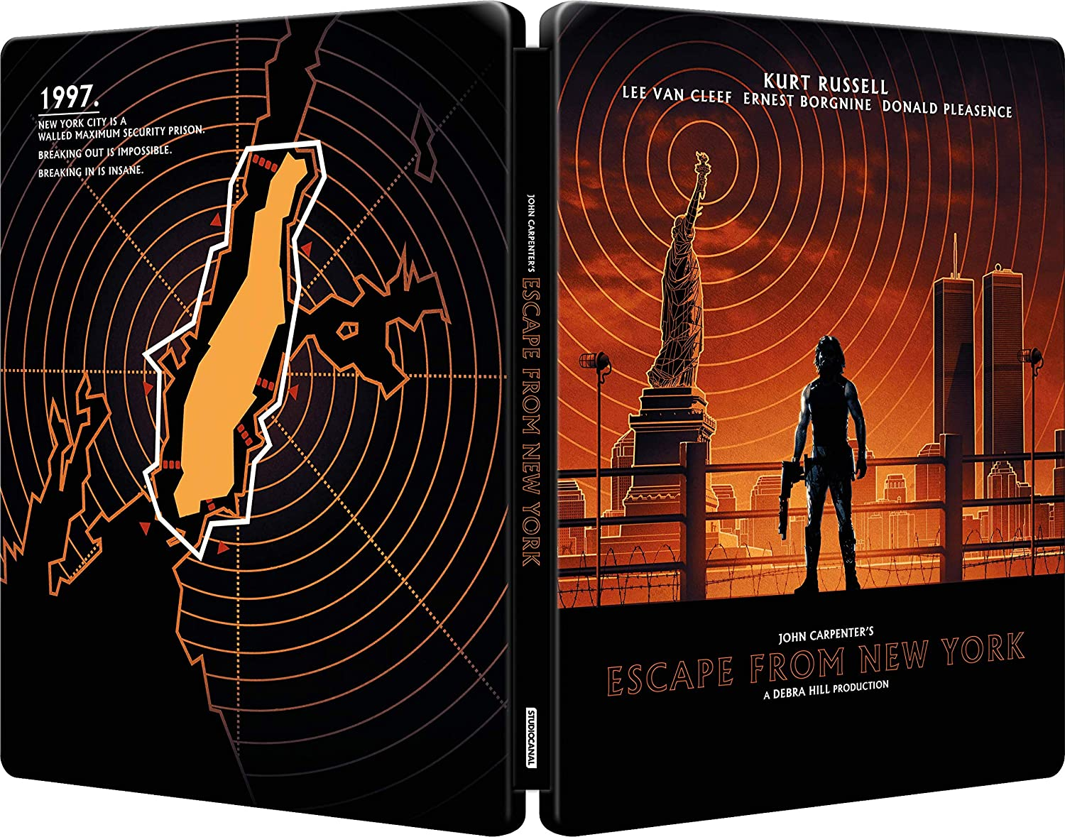 Escape From New York UK Steelbook Blu-Ray