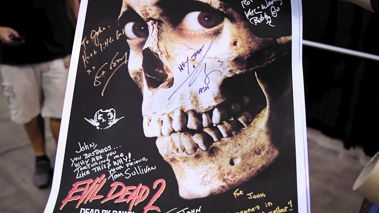 Hail to the Deadites Evil Dead II Signed Poster