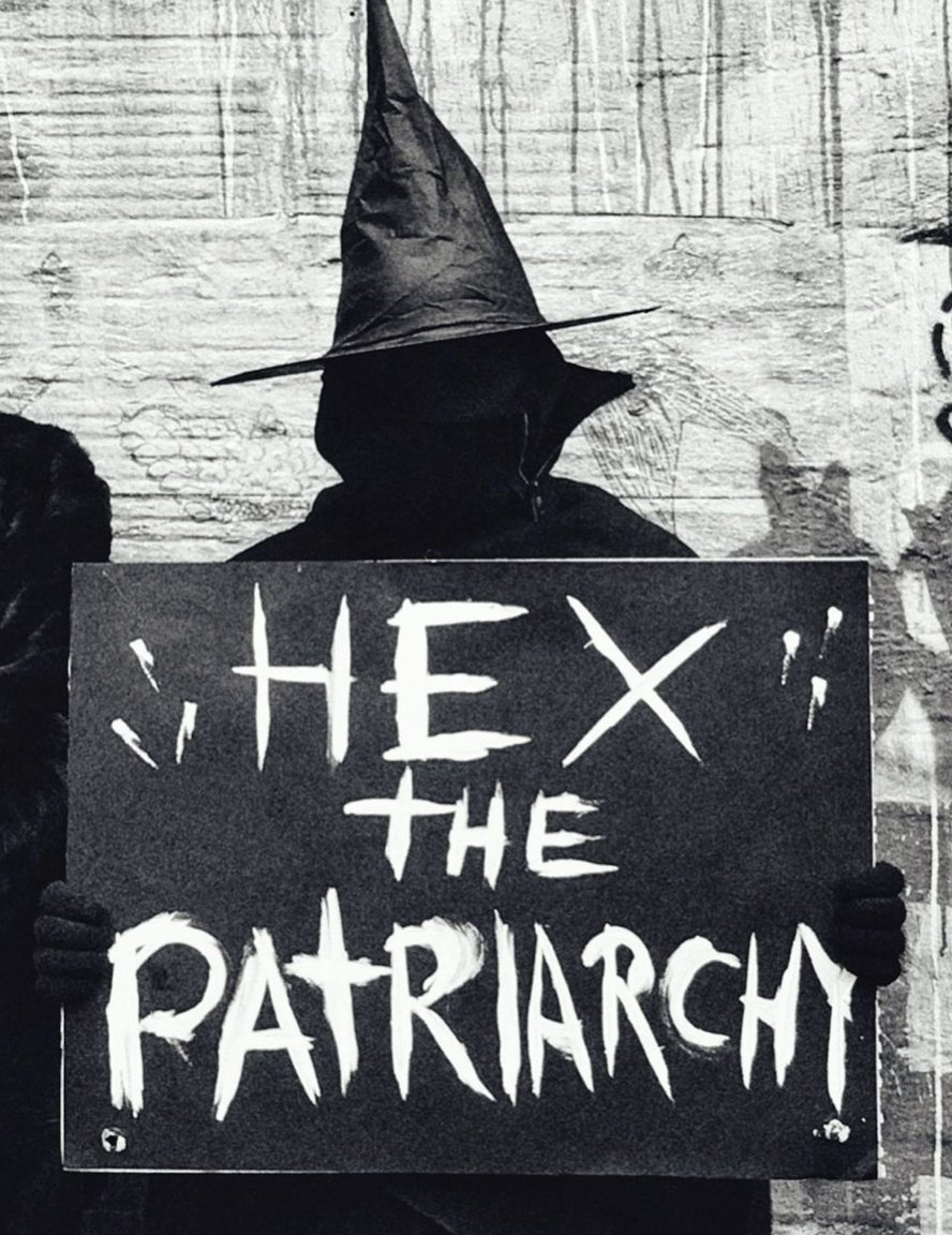 WITCH Hex the Patriarchy Sign