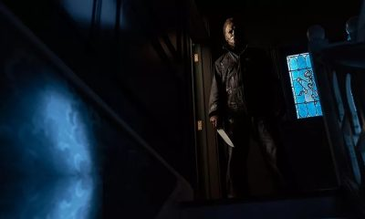 Michael Myers Creeps At the Top of the Staircase in New Exclusive 'Halloween Kills' Image