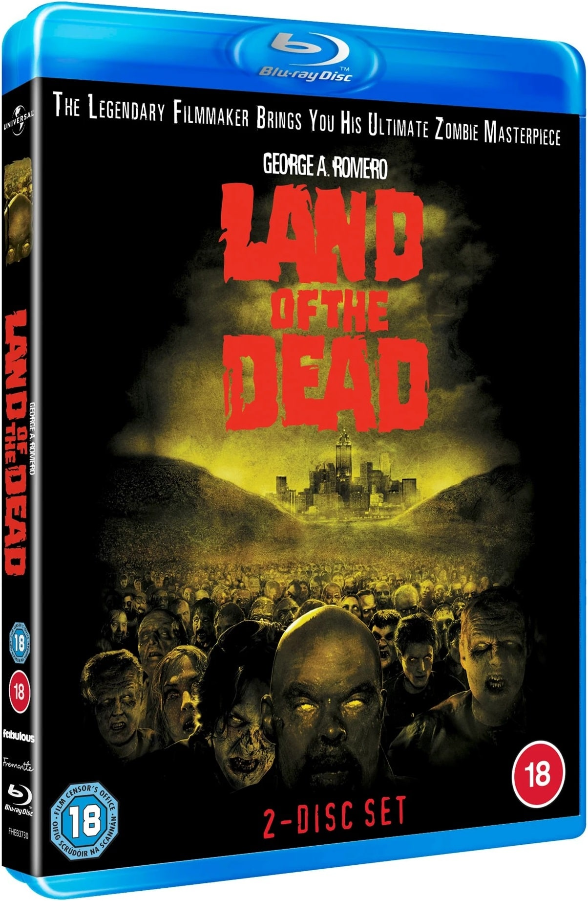 Land of the Dead UK Blu-Ray Back