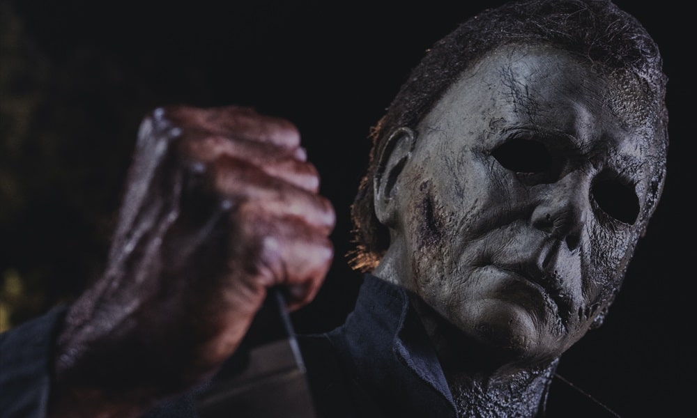 'Halloween Kills': Michael Myers Grasps a Bloody Knife in New Promotional Image