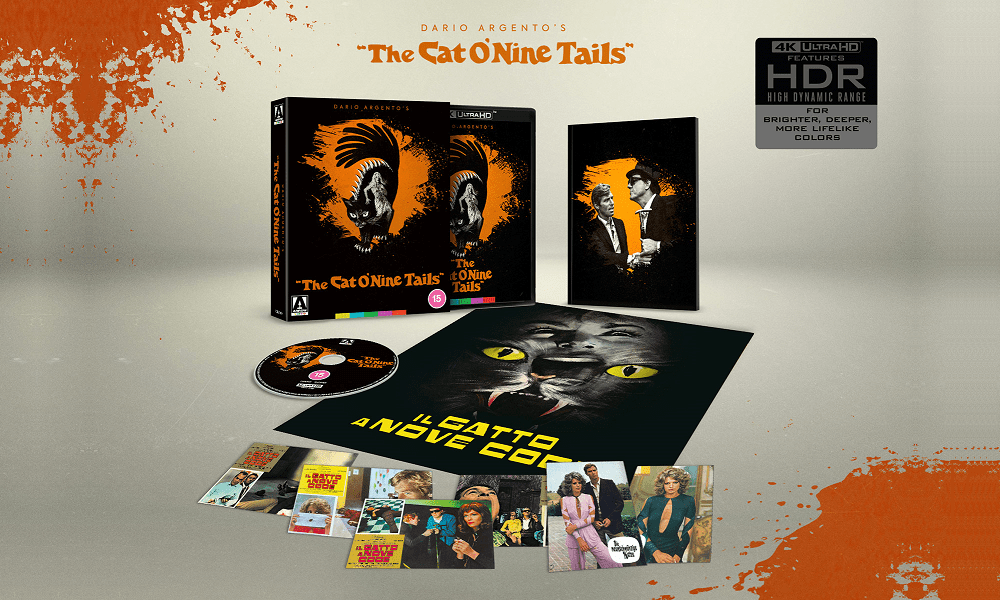 Dario Argento's 'The Cat O' Nine Tails' Getting Limited Edition 4K Ultra HD Blu-Ray in the UK This July