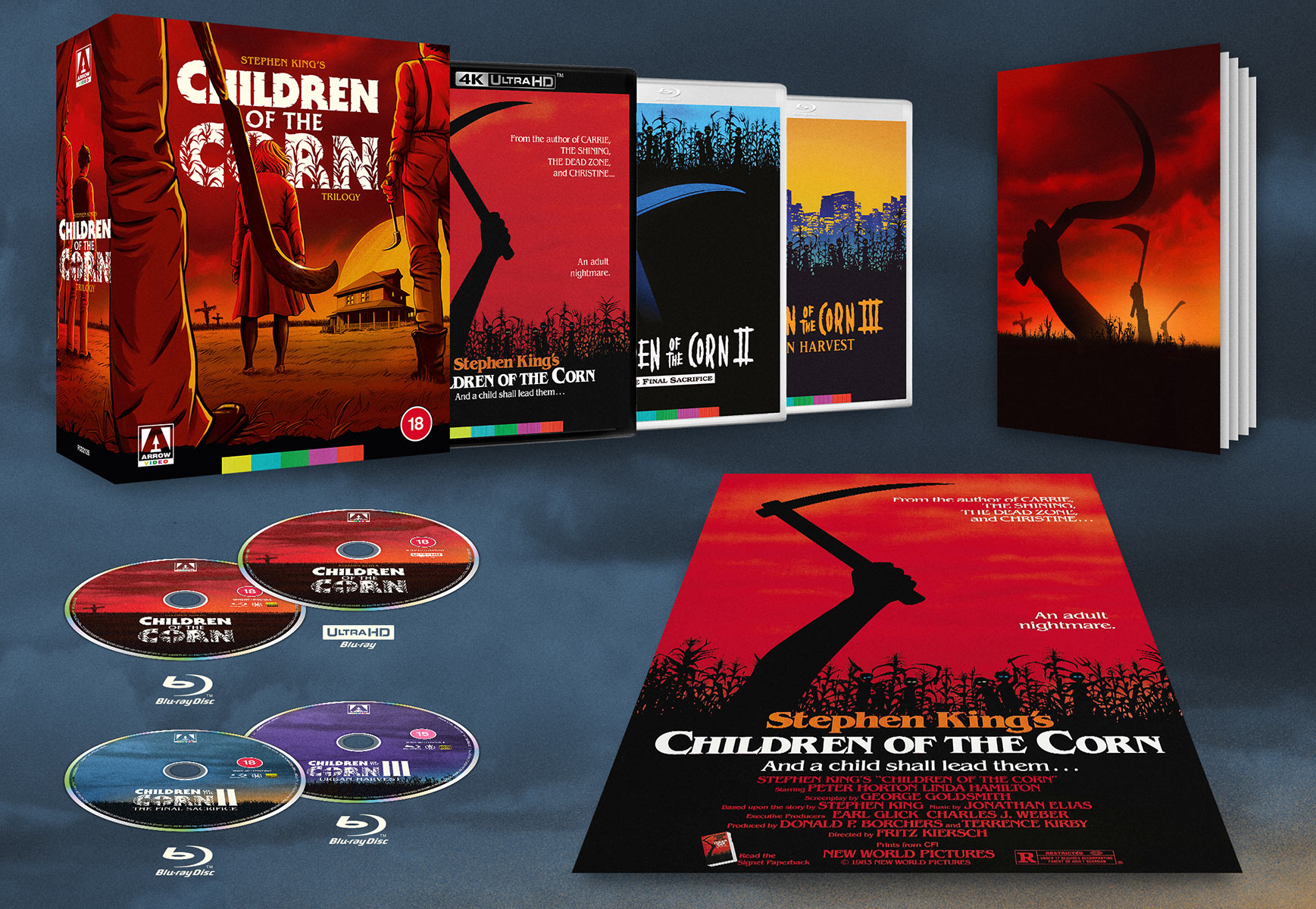 Children of the Corn Trilogy Limited Edition 4K Blu-Ray