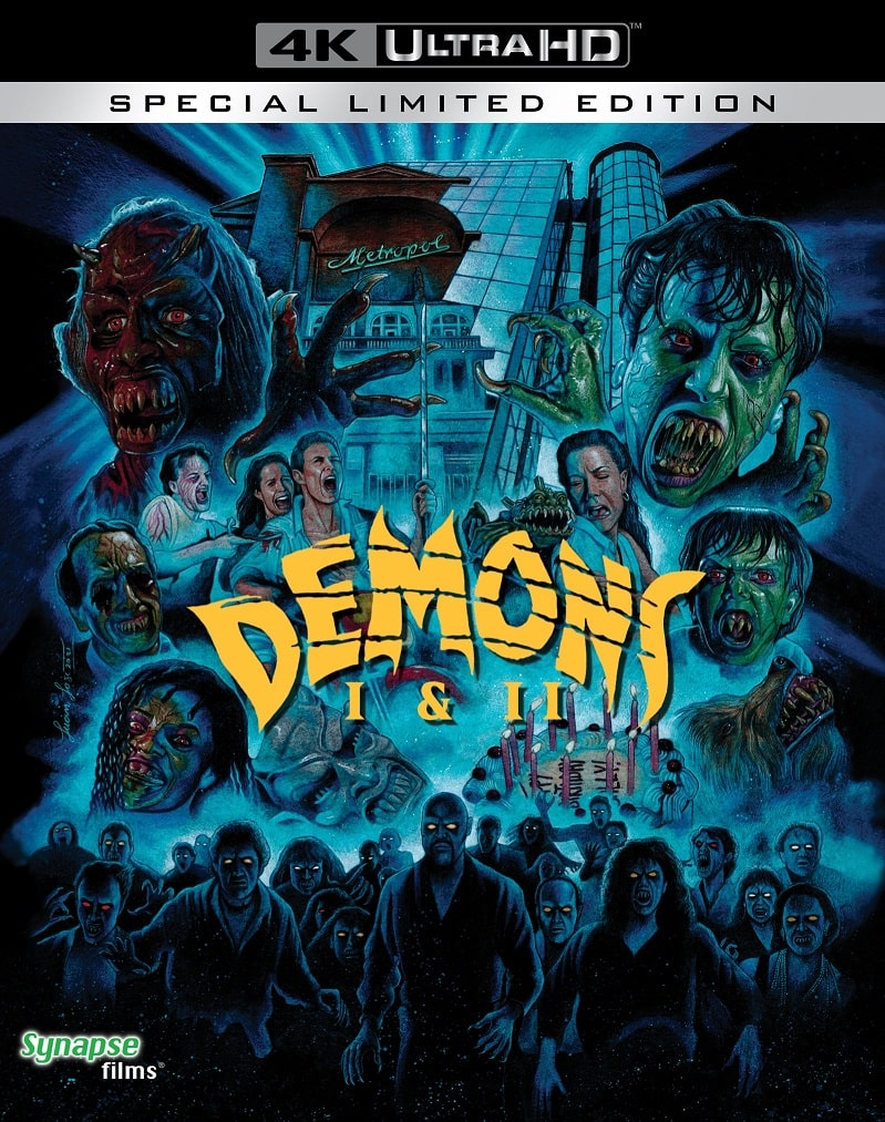 Synapse Films Demons and Demons 2 4K Blu-Ray