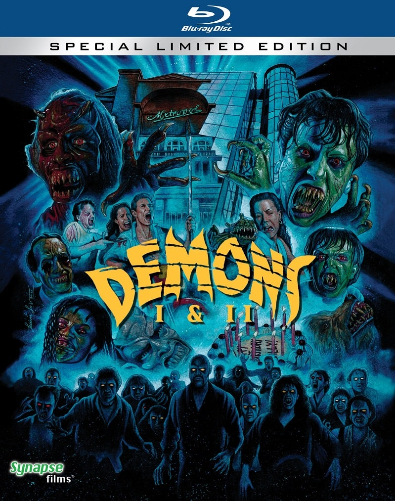 Synapse Films Demons and Demons 2 Limited Edition Blu-Ray