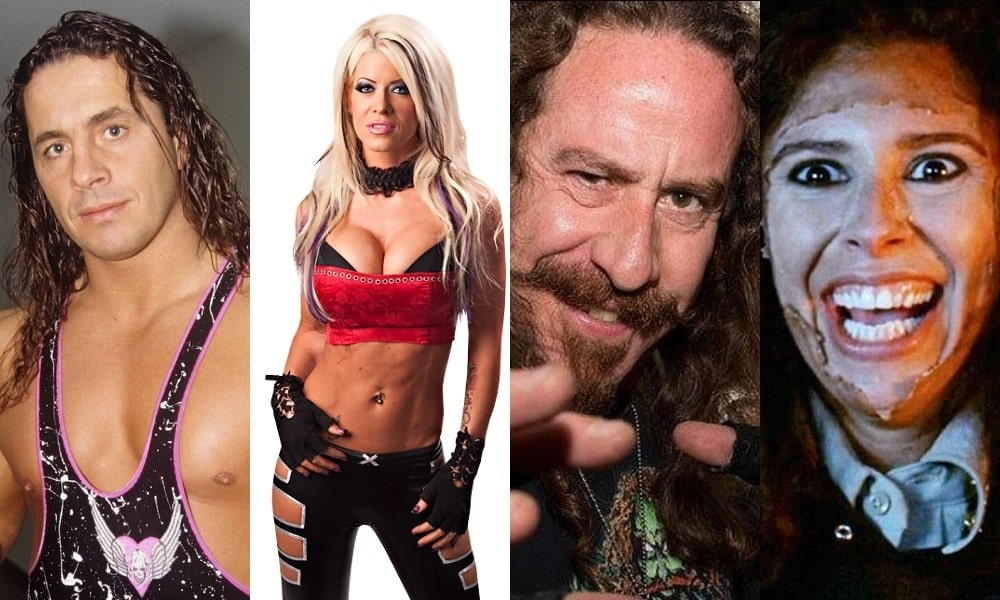 """Bret """"Hitman"""" Hart and Angelina Love Battle Ari Lehman and Felissa Rose in 'DEMENTED' on VOD This Friday the 13th"""