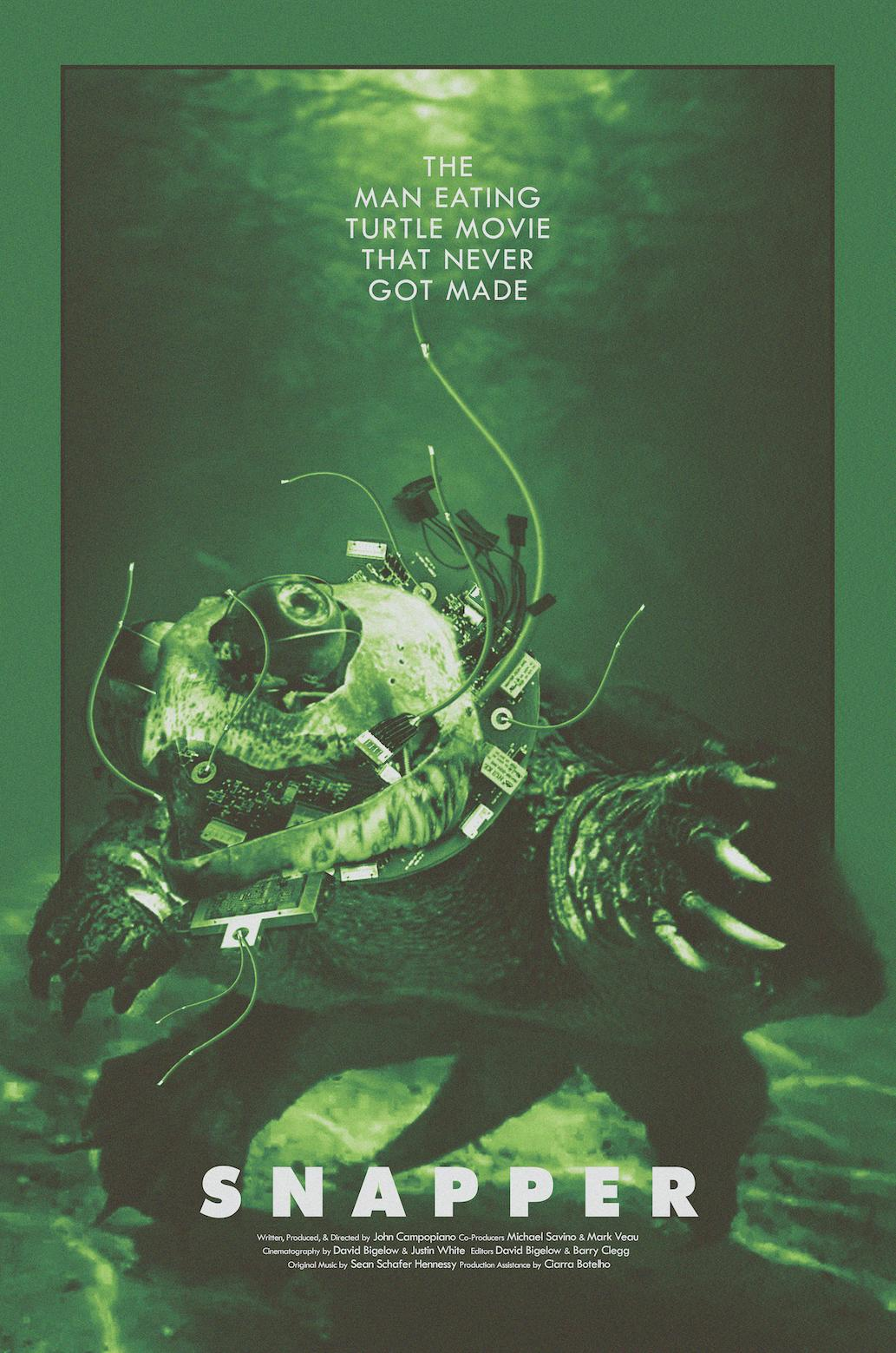 Snapper The Man-Eating Turtle Movie That Never Got Made Poster