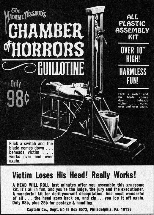 Famous Monsters Ad Guillotine