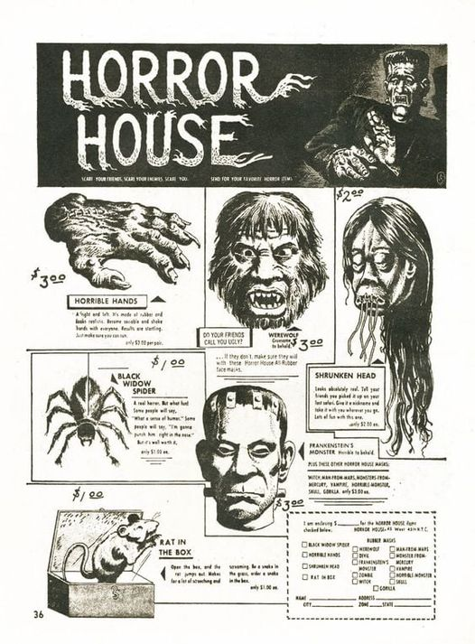 Famous Monsters Ad Horror House